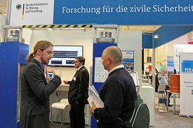 BMBF-Messestand auf der SECURITY 2018