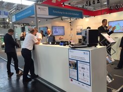BMBF-Messestand auf der Messe INTERSCHTZ 2015