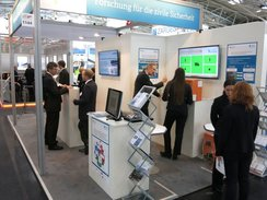 BMBF-Messestand auf der Messe inter airport Europe 2015